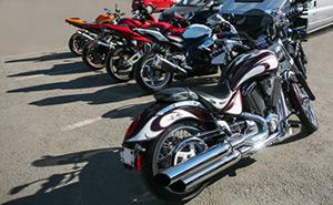Motorradparkplatz