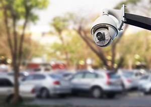 Parkplatz mit Videokamera